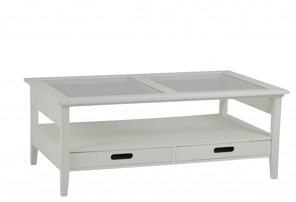 Bridgeport soffbord med lådor vit Möbler Folkhemmet com