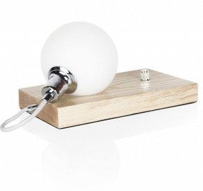 Orb bordslampa ask opalvit