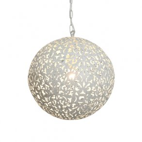 Flower Ball Taklampa Vit
