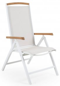 Andy Positionsstol Vit/Offwhite/Teak