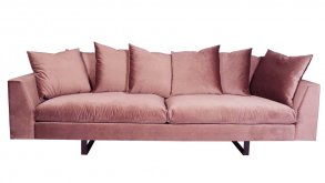 Endless 4-Sits Soffa Dusted Pink Velvet