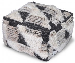 Puff Marrakesh Ivory/Charcoal