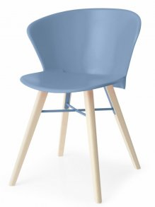 Bahia Wood Chair Sky Blue