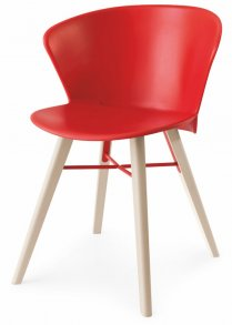 Bahia Wood Chair Red
