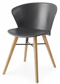 Bahia Wood Chair Matt Grey