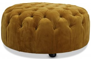 Chester Sittpuff Chesterfield Gold Sammet