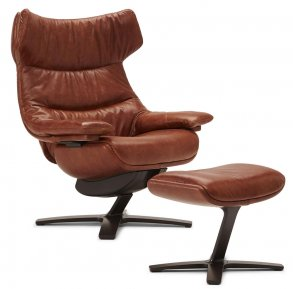 Re-Vive Wing Back 608Q 704 Reclinerfåtölj inkl. Fotpall