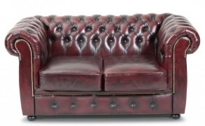 Liverpool Chesterfield soffa 2-sits Oxblod