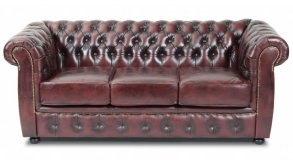 Liverpool Chesterfield soffa 3-sits Oxblod