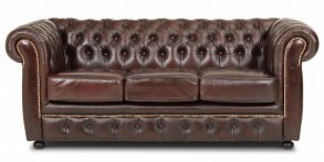 Liverpool Chesterfield soffa 3-sits Brun