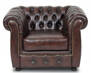 Liverpool Chesterfield Fåtölj Brun