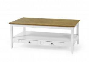 VIGGSÖ Avställningsbord ekvitlack Avlastningsbord Bord