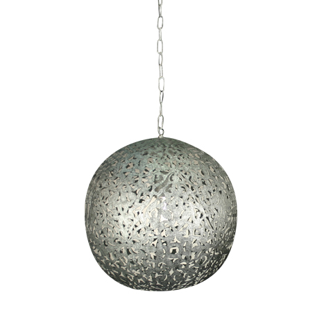 Flower Ball Taklampa Silver