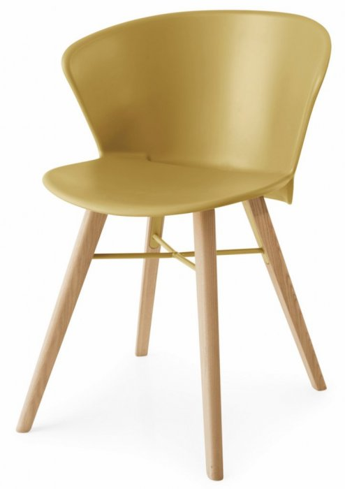 Bahia Wood Chair Mustard Yellow