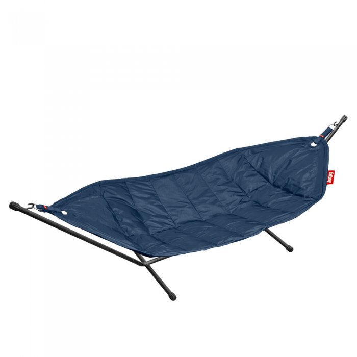 Fatboy hängmatta dark blue (black rack)