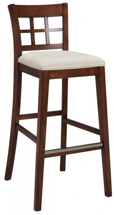 Bridgeport barstol 72cm ruta brun, Cottage beige