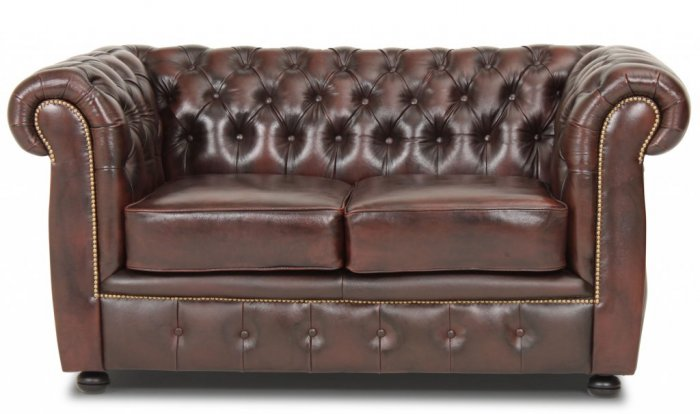 Liverpool Chesterfield soffa 2-sits Brun