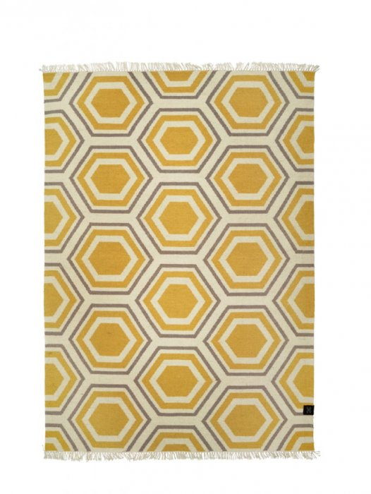Ullmatta Hexagon Honey Gold 170x230