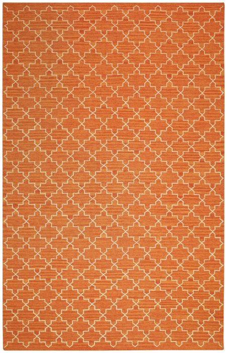 New Geometric Ullmatta Orange Melange/Off White