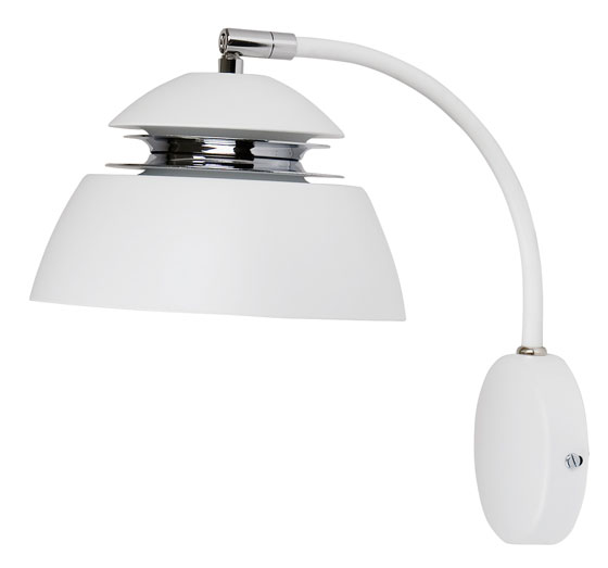 V 5301 Avalon vägglampa LED mattvit