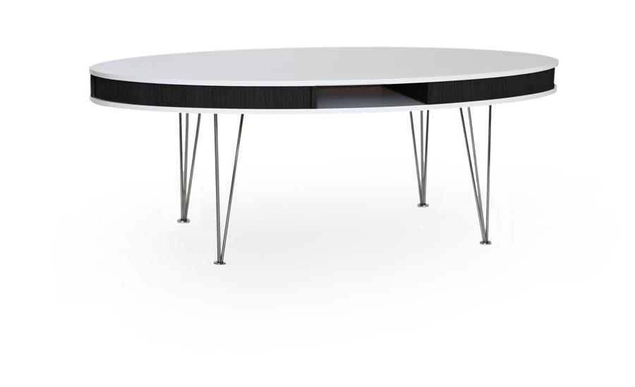 Hugo ovalt soffbord vit svart metallben Bord Möbler Folkhemmet com