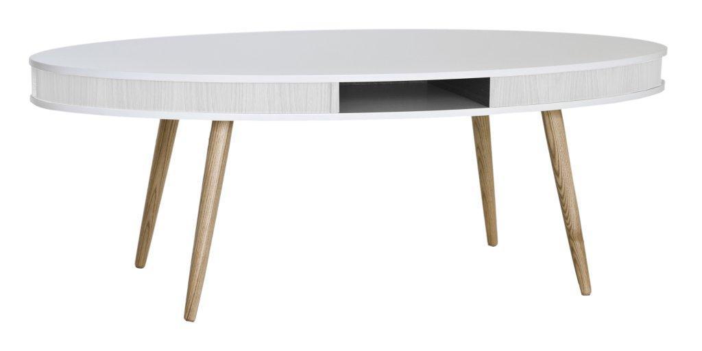 Hugo Soffbord Oval 115x70 Vit/Vit, Ekben - Bord - Möbler ...
