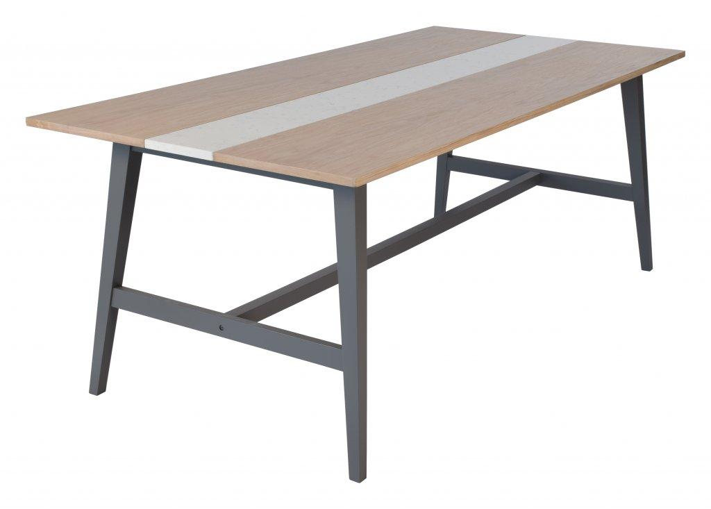 Edgar matbord, vit marmor ljus ek grå Möbler Folkhemmet com
