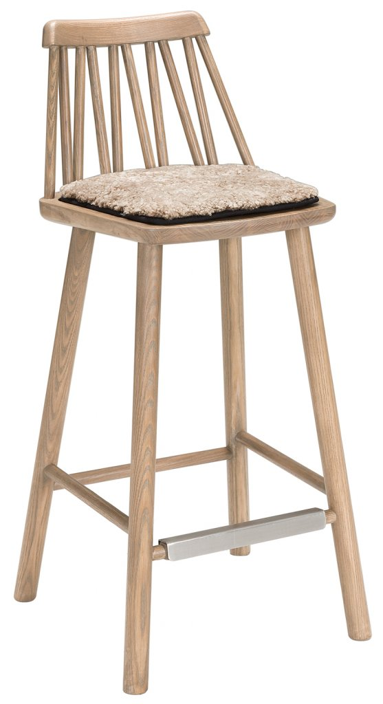 ZigZag Barstol 63cm Grålaserad Ask Möbler