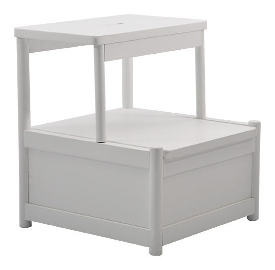 fame pall med f rvaring vit pallar hallm bler m bler. Black Bedroom Furniture Sets. Home Design Ideas