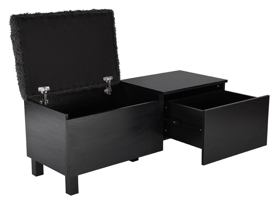 Box Sittbänk med förvaring Stor svart Hallmöbler Möbler Folkhemmet com