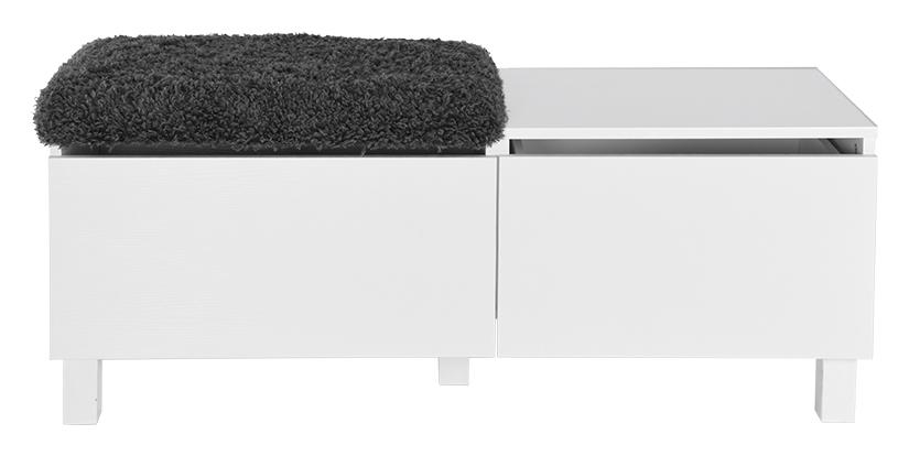 Box Sittbänk med förvaring Stor vit Hallmöbler Möbler Folkhemmet com