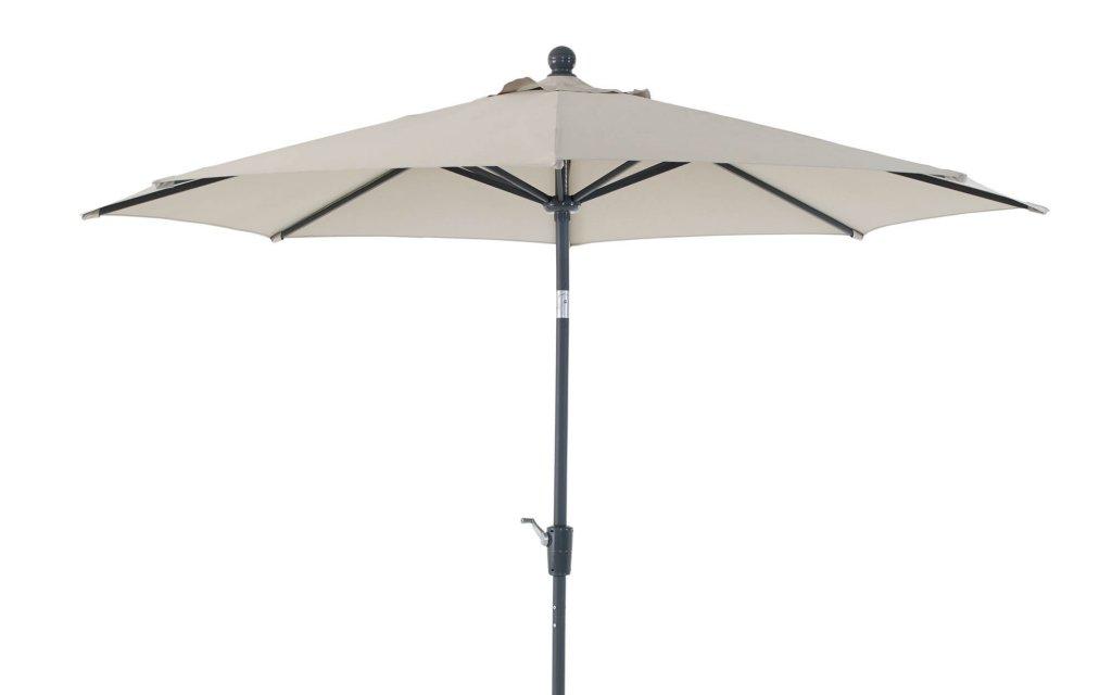 Florens Parasoll Metall 2,75m Antracit Beige Utemöbler och Trädgårdsmöbler Folkhemmet com