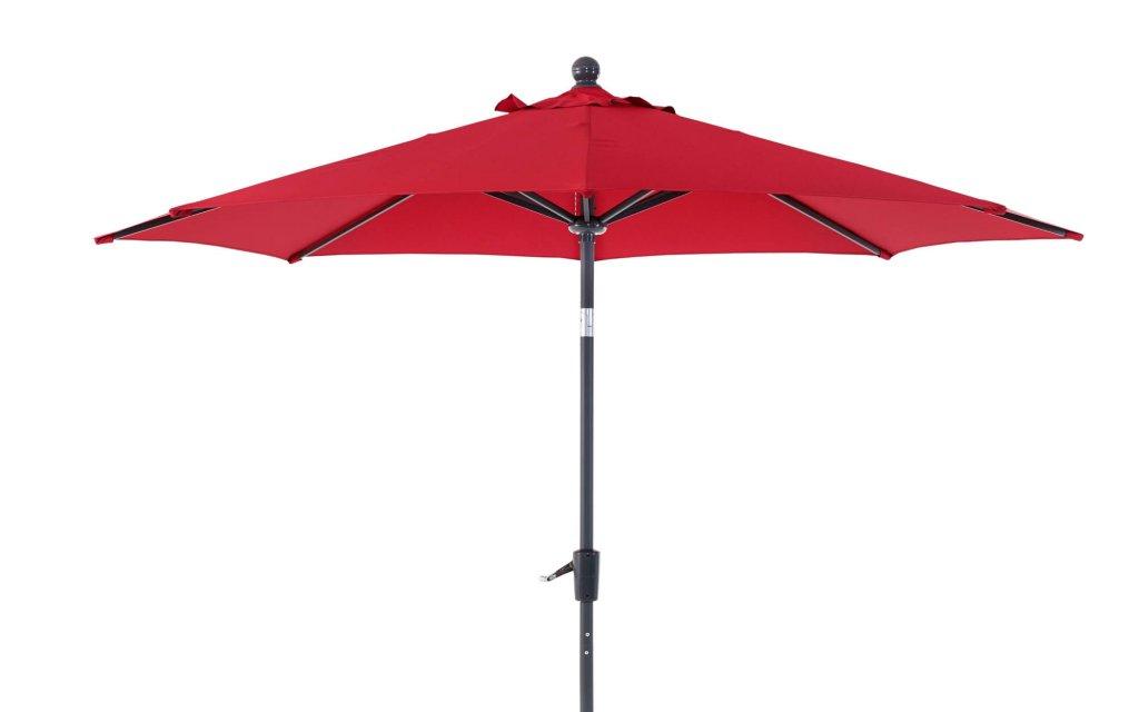 Florens Parasoll Metall 2,75m Antracit Röd Parasoll Solskydd Utemöbler och Trädgårdsmöbler