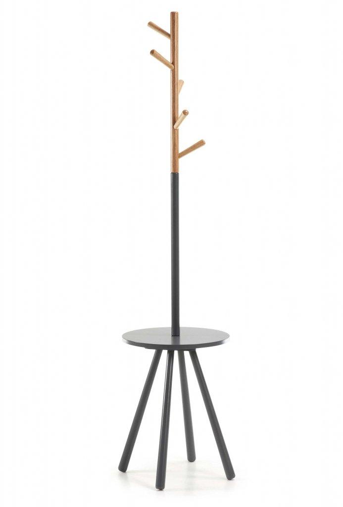 Bren tamburmajor med avställningsbord grå Klädhängare Hallmöbler Möbler Folkhemmet