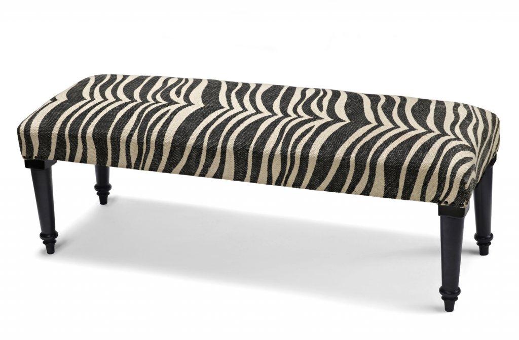 Bänk Zebra Charcoal 40×100 Sängbänkar Sovrum Möbler Folkhemmet com