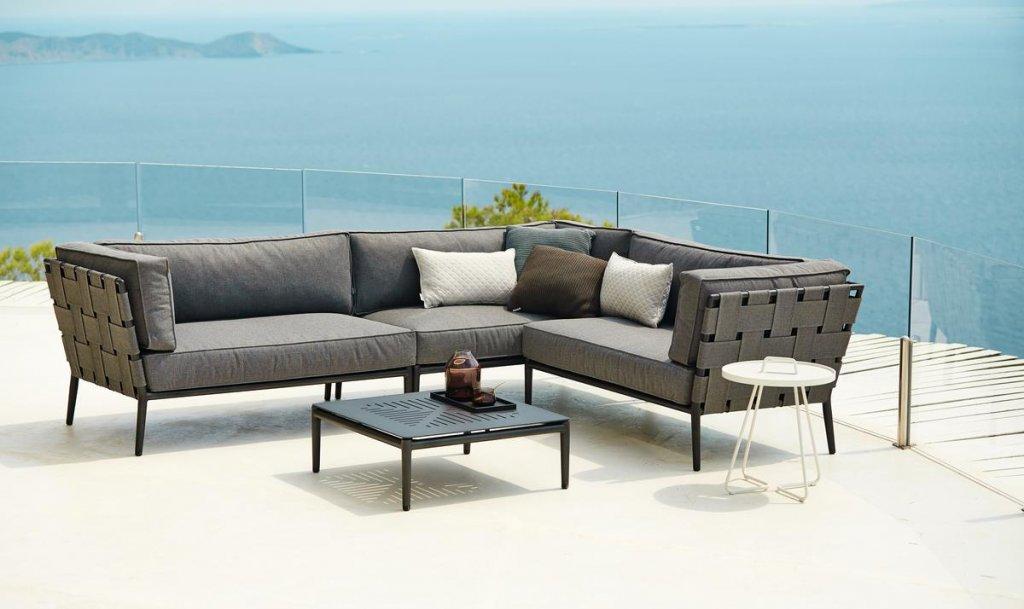 Conic Lounge Dagbadd Modul Brun Cane Line Softtouch Utemobler Och