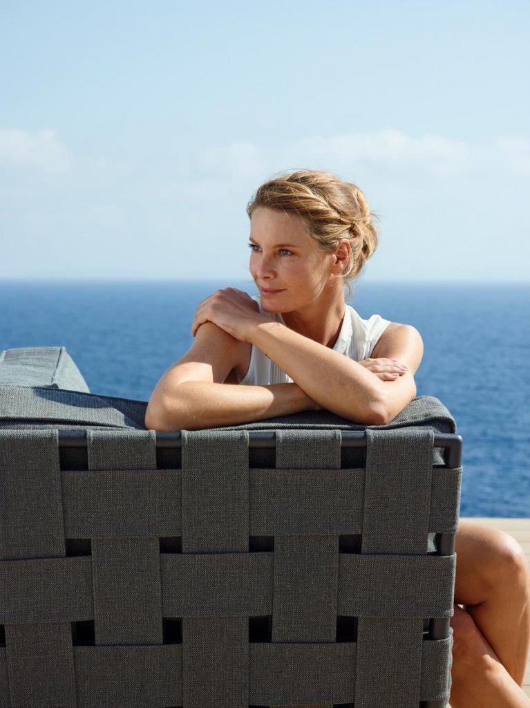 Conic lounge dagbädd modul Grå, Cane line SoftTouch Soffor& Fåtöljer Utemöbler och