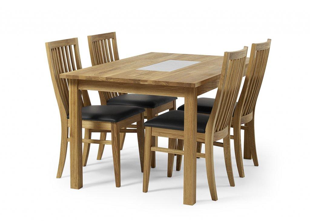 Soffbord Kalksten : Ekliden matbord rak kant oljad ek med kalksten bord