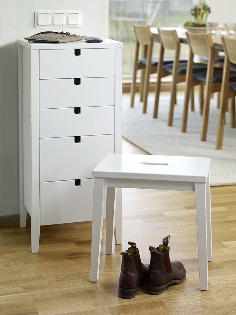 Kända Klinte Byrå 5 Lådor Vit - Byråer - Hallmöbler - Möbler VD-41
