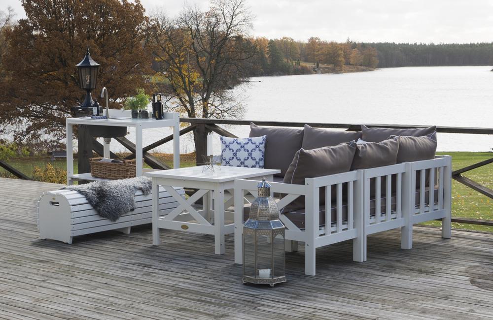 Soffbord ute : Läckö soffbord vit utemöbler och trädgårdsmöbler folkhemmet
