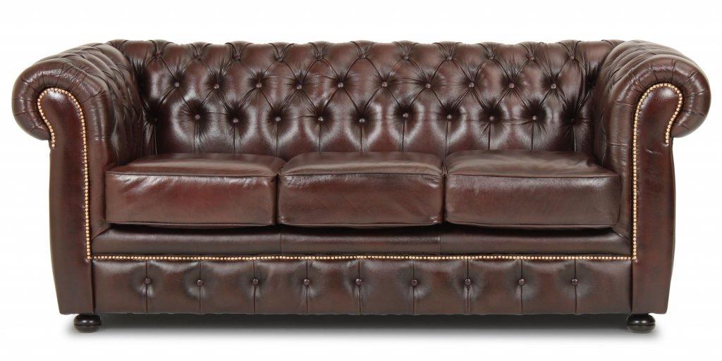 Seneste Liverpool Chesterfield soffa 3-sits Brun - Möbler - Folkhemmet.com ZJ89