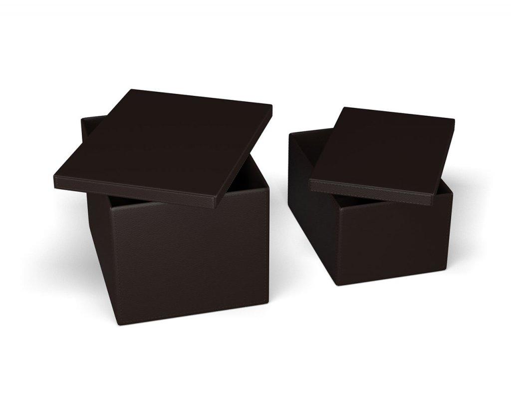 Helt nya Clever Förvaringslåda 2-Pack Brunt Konstläder - Förvaring - Möbler SX-75