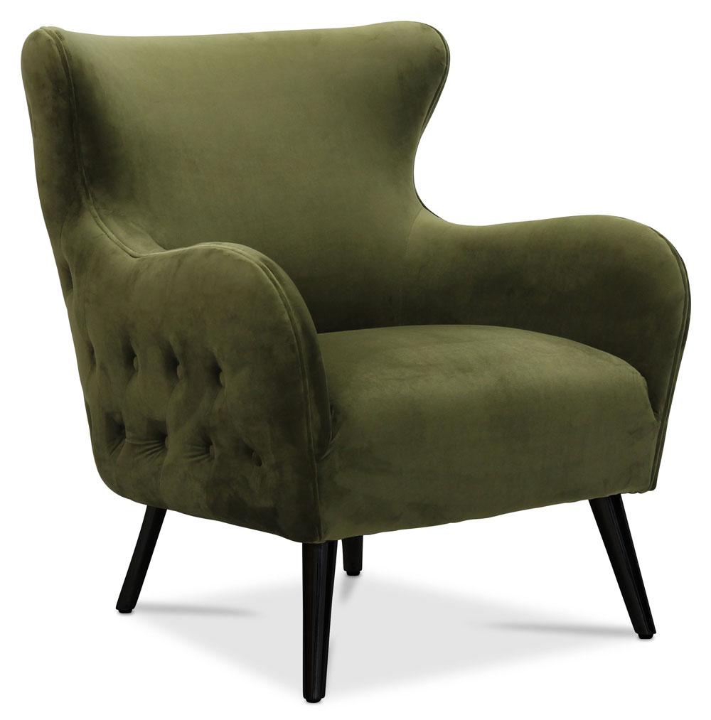 Manchester Fåtölj Grön Sammet Möbler Folkhemmet com