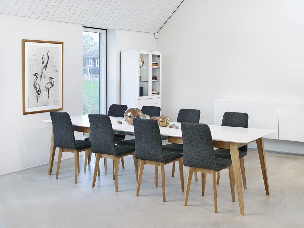 Matbord För 10 Personer : Mood matbord vitlack oljad ek möbler folkhemmet
