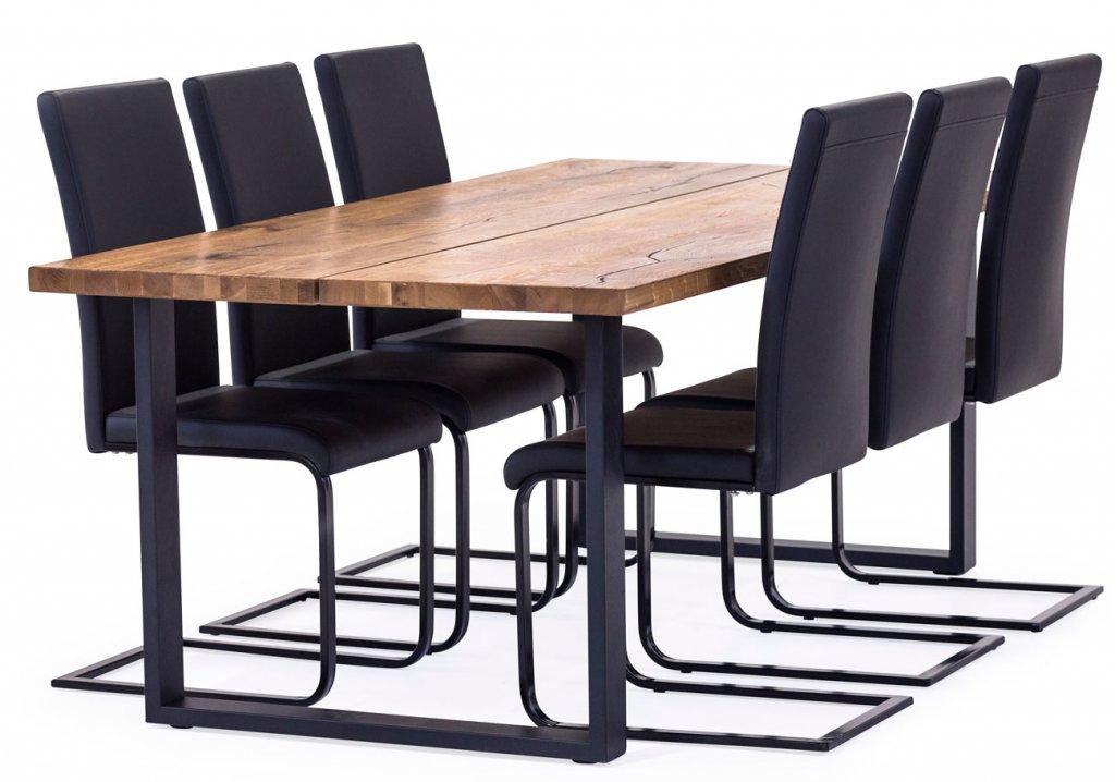 Matbord i svart & ekfärg