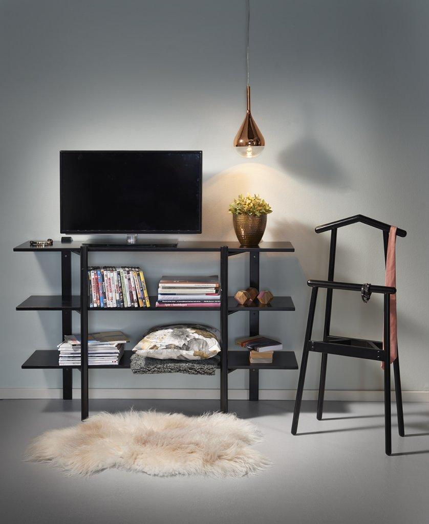 Perstorp hylla 140 svart   möbler   folkhemmet.com