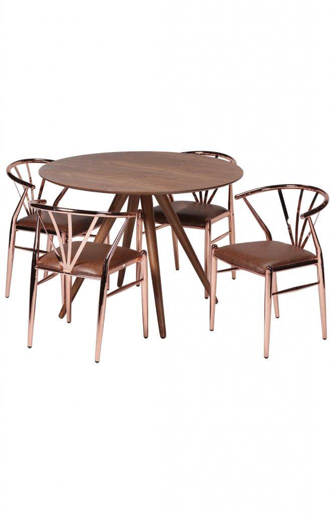 Delta Barstol Koppar, sits brunt konstläder Möbler