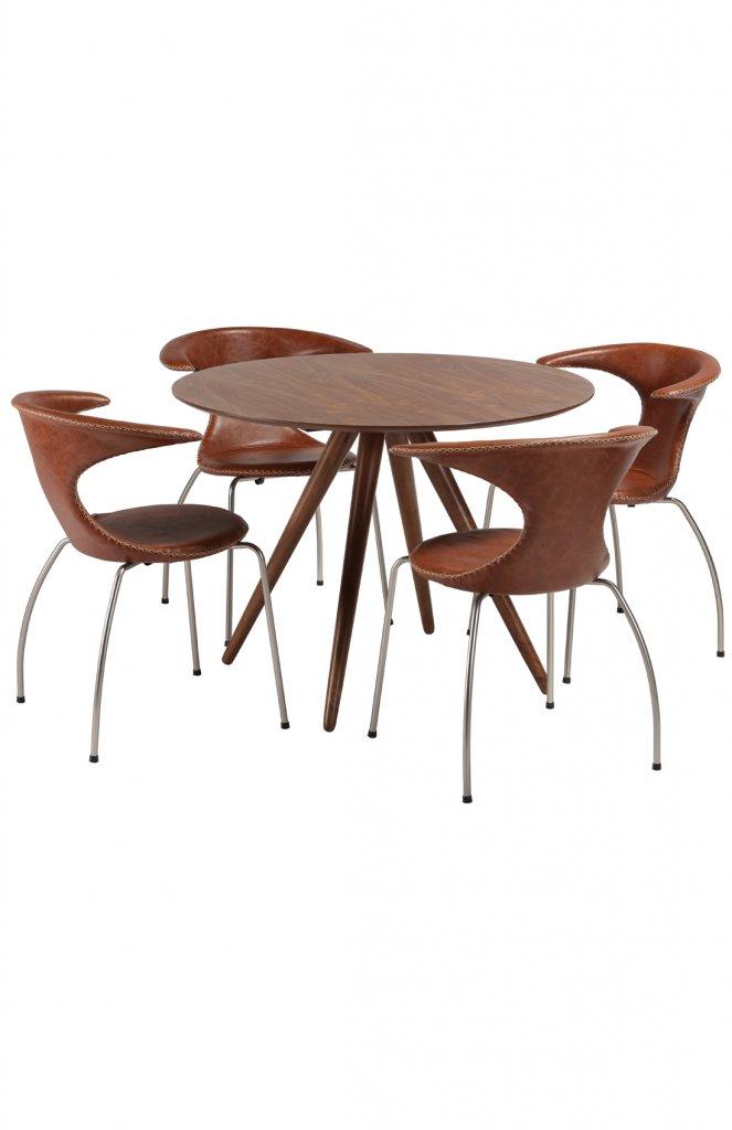 Pheno runt matbord med fyra Flair stolar Möbler Folkhemmet com
