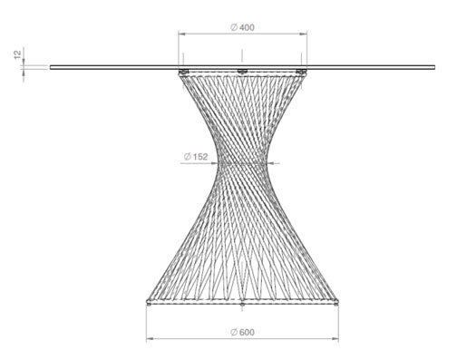 Vortex Runt Bord 120cm Glas Bord Möbler