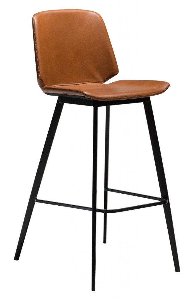 Danform Pitch barstol vintage grå Konstläder svarta ben